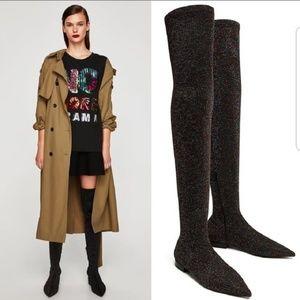 9a2e2ed6f44 Women s Zara Glitter Boots on Poshmark
